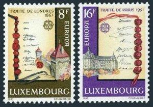 Luxembourg 672-673,MNH.Mi 1052-1053. EUROPE CEPT-1982.Treaty of London,Paris.