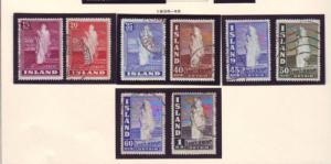 Iceland Sc 203-208B 1938-1947 1938 Geysers stamp set used