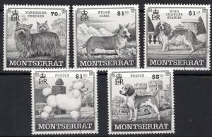 MONTSERRAT SG1138/42 1999 DOGS FINE USED