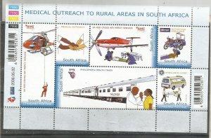 SOUTH AFRICA, 2006,MNH sheet,Red Cross Scott 1358