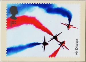 Great Britain. 2008 Air Displays. PHQ Cards(6) Unused