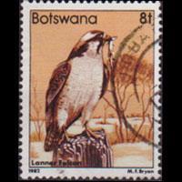 BOTSWANA 1982 - Scott# 310 Falcon 8t Used