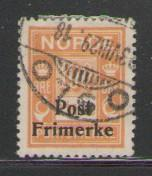 Norway Sc 143 1928 100 ore  due stamp ovptd  used