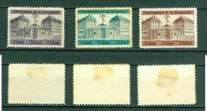 Denmark. 3 Poster Stamp. Kings III Regiment. Soldiers Barracks Copenhagen