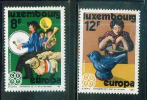 Luxembourg Scott 657-8 MNH** Europa 1981