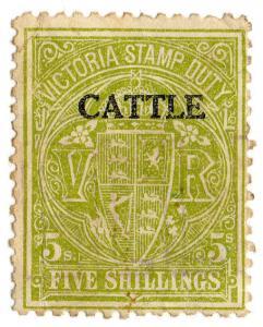 (I.B) Australia - Victoria Revenue : Cattle Duty 5/-