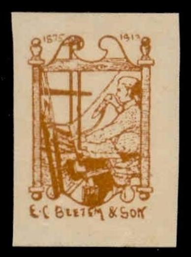 US - E.C. Beetem & Son Rug-Making Poster Stamp (yellow-brown)