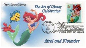 AO-3914–2, 2005, The Art of Disney Celebration, Pictorial Postmark, Little Merm
