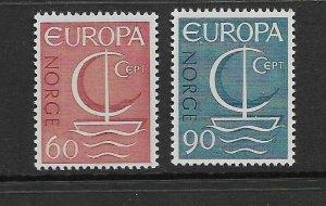 NORWAY - EUROPA 1966 - SCOTT 496 TO 497 - MNH