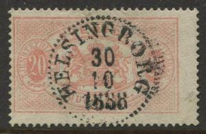 Sweden #O19 Official Stamps 1882 VFU Perf. 13 CV$