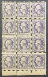 #530 – Block of 12.  1918 3c Washington, perf 11, type IV.  MNH.  OG.