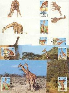 Kenya 8 FDC/cards WWF 1989