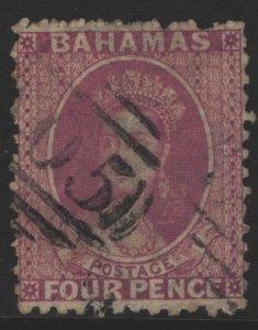 Bahamas Sc#13 Used- Watermark Reversed