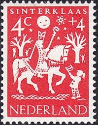 Netherlands # B358 mnh ~ 4¢ + 4¢ St. Nicholas On Horse