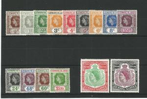 Leeward Islands 1954 Definitive Set unmounted mint CV £60 SG126-140 Sc128-142