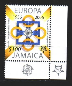 Jamaica. 2005. 1083 from the series. 50 years Europe sept. MNH.