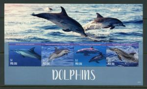 PALAU 2019 DOLPHINS SHEET MINT NEVER HINGED