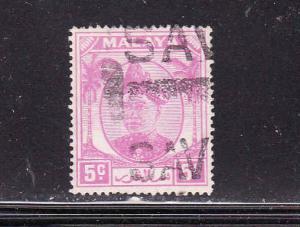 Malaya Selangor-Sc #95-used-5c rose vio-1952-55-