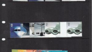 2002 AIRLINERS GUTTER PAIRS SG2284-SG2290  UMM/MNH BELOW FACE VALUE