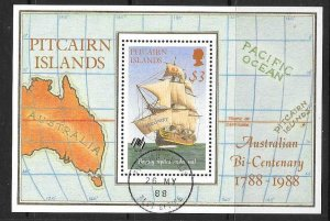 PITCAIRN ISLANDS SGMS314 1988 AUSTRALIAN BI-CENTENARY FINE USED