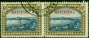 South West Africa 1931 6d Blue & Brown SG016 Very Fine Used