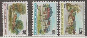 Liechtenstein Scott #1070-1071-1072 Stamps - Mint NH Set