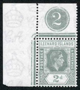 Leeward Is SG103 2d olive-grey Plate Number example U/M (completely)