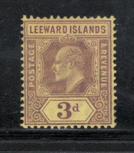 Leeward Islands 1910 King Edward VII 3p Scott # 34 MH