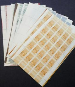 EDW1949SELL : ETHIOPIA 1930 Scott #210-16. 50 Complete sets. VF MNH. Cat $462.