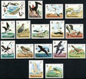 1976 Ascension Island Birds complete set to 2£ MNH Sc# 196 / 211 CV $21.80