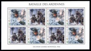 [91892] Niger  World War 2 Ardennes Offensive Sheet MNH