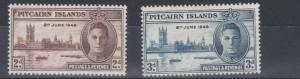 PITCAIRN ISLANDS 1946  VICTORY SET MH