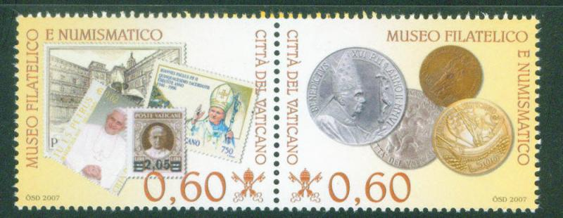 VATICAN Scott 1357 MNH** 2007 Stamp and Coin Museum setenant