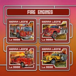 SIERRA LEONE 2017 SHEET FIRE ENGINES srl17406a