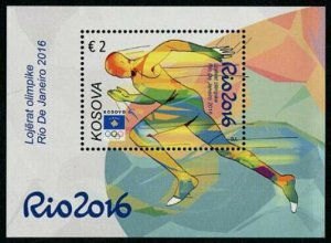 HERRICKSTAMP NEW ISSUES KOSOVO Sc.# 310 Rio 2016 Olympics S/S