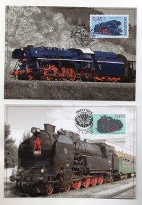 SLOVAKIA - 2015 - MAXIMUM CARD - TRAINS - STEAM TRAIN - ALBATROS - PARNA -