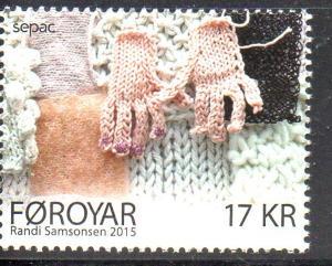 Faroe Islands Sc 647 2015 Knitted Art stamp mint NH