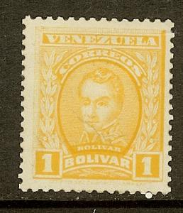 Venezuela, Scott #255, 1b Simon Bolivar, MLH
