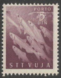 Yugoslavia  Trieste Zone B 1950 Sc J10 MLH, Fish, cv $20