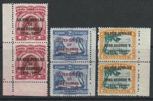 Cook Islands, Scott 98-100 (SG 113-115), MNH pairs