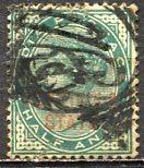 India, Patiala: 1885; Sc. # 7, O/Used Single Stamp