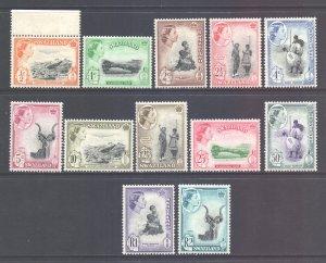Swaziland Scott 80/91 - SG78/89, 1961 Elizabeth II Set MH*
