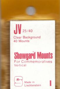 SHOWGARD CLEAR MOUNTS JV 25/40 (40) RETAIL PRICE $3.95