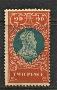 STAMP STATION PERTH New South Wales #2p Stamp Duty Stamp FU - Unchecked