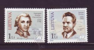 Lithuania Sc 734-5 2003 Famous Lithuanians stamp set mint NH