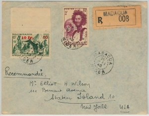 45101 - AOF MAURITANIA / NIGER -  POSTAL HISTORY: REGISTERED COVER from Madaoua