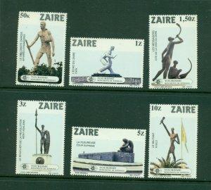 Zaire  #1115-20 (1983 Kinshasa Monuments set) VFMNH CV $5.00