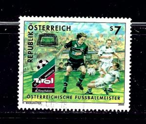 Austria 1807 Used 2000 Soccer issue