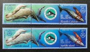 Norfolk Island Caledonia Joint Issue Cetacean Operation 2002 Whale (stamp) MNH