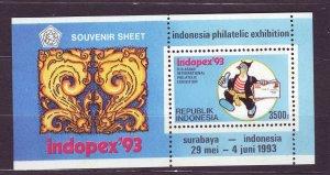 J22809 JLstamps 1993 indonesia s/s mnh #1542 indopex exhibition